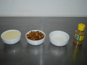 Ingredientes do brigadeiro de banana frita (Foto: Eliena Monteiro/G1 AM)