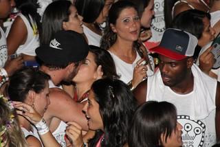 Fernanda Paes Leme e affair em Salvador (Foto: J.Humberto e Vinicius Eduardo/AgNews)