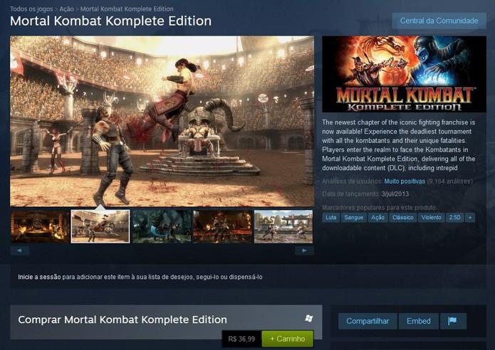 A versão com todos os DLCs também está disponível no Steam (Foto: Reprodução/André Mello)