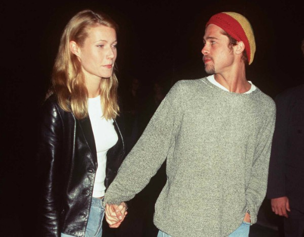 Brad Pitt e Gwyneth Paltrow em foto de 1995 (Foto: Getty Images)