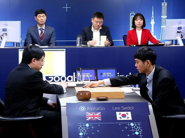 AlphaGo venceu Lee Se-Dol no duelo de melhor de cinco. (Foto: AFP)