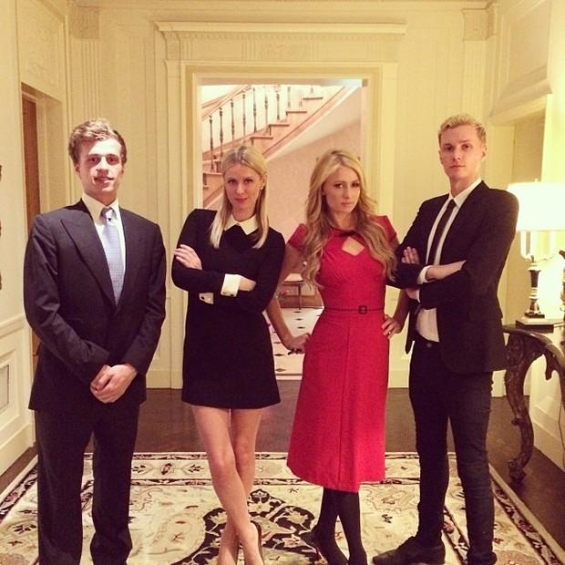 Conrad Hilton com seus irmãos: Nicky, Paris e Barron (Foto: Reprodução/Instagram)