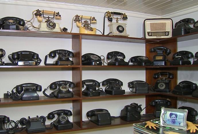 Coleção impressiona pela exposição de várias raridades (Foto: Revista de Sábado  / TV TEM)