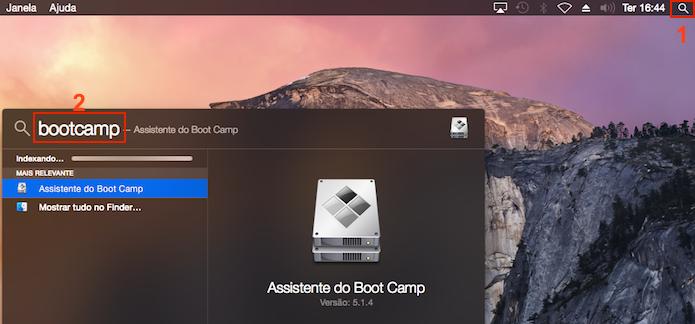 Executando o Assistente do Boot Camp no OS X (Foto: Reprodução/Edivaldo Brito)