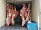 Carga de 1,5 t de carne roubada é encontrada em açougue em Uberaba