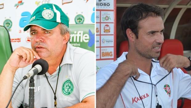 Vadão e Sidney, técnicos de Guarani e Boa Esporte (Foto: Editoria de Arte / Globoesporte.com)