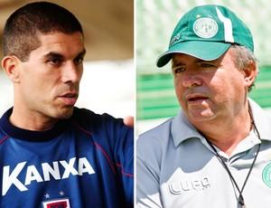 Ricardinho e Vadão, técnicos de Paraná Clube e Guarani (Foto: Editoria de Arte / Globoesporte.com)