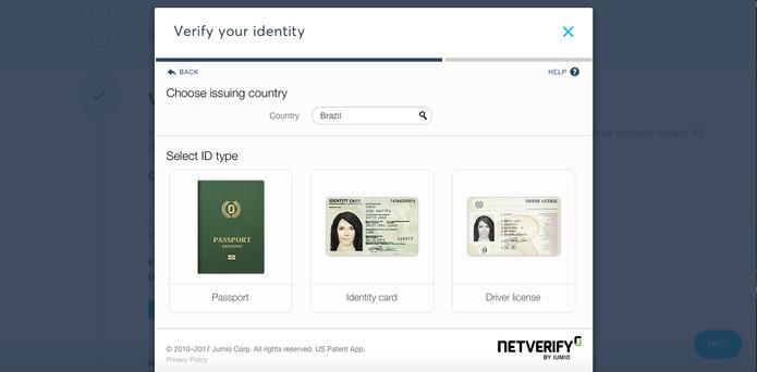 Será necessário fazer upload de um documento para confirmar a própria identidade (Foto: Reprodução/Karen Malek)