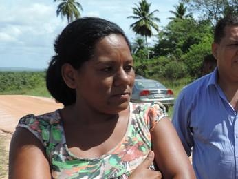 'Ninguém respeita a gente', diz Patrícia Alves, esposa de um reeducando (Foto: Katherine Coutinho/G1)