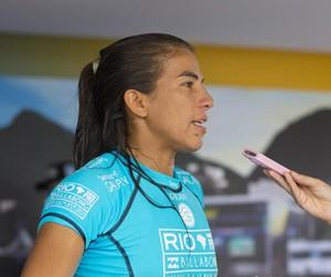 Surfe - WCT Rio de Janeiro - Carol Fontes entrevista Silvana Lima (Foto: ASP/Kirstin Scholtz)