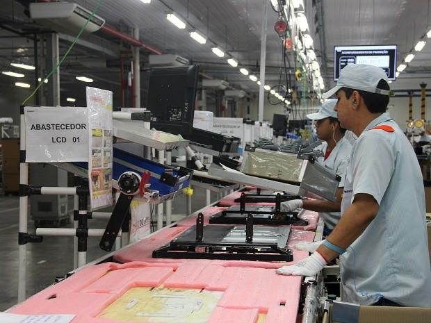 Setor de eletroeletrônicos do PIM tem forte presença nipônica (Foto: Camila Henriques/G1 AM )