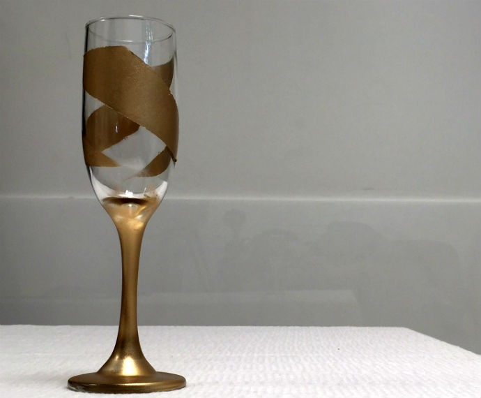 Faça em casa: Taça decorada (Foto: Renata Viot/Gshow)