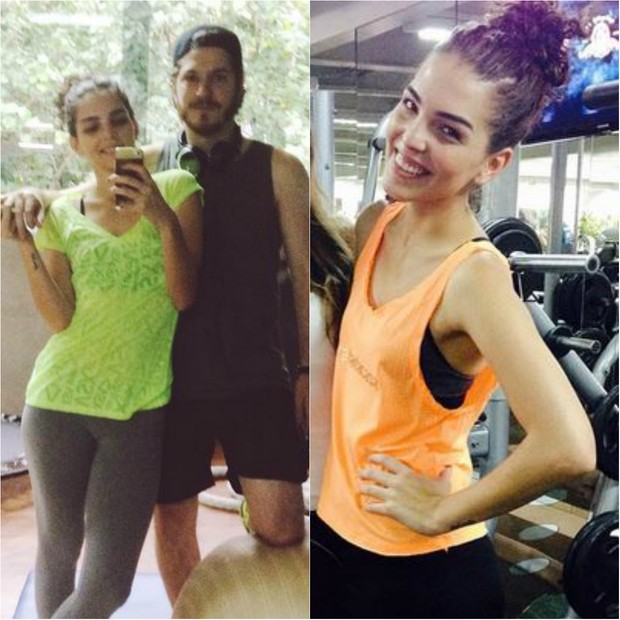 Julia Konrad começou a correr na orla do Rio por causa do namorado, o ator Caio Paduan, no ar como o Afonso na novela Além do tempo (Foto: Reprodução do Instagram)