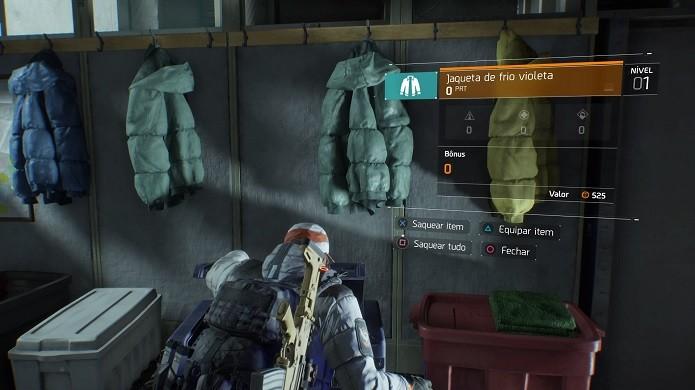 The Division tem diversas opções de roupas para equipar (Foto: Reprodução/Thiago Barros)