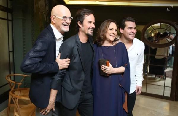 Marcos Caruso, Paulo Vilhena, Thiago Martins e Elizabeth Savala também estão no elenco (Foto: Isabella Pinheiro/Gshow)