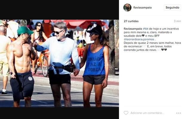 Flavia Sampaio em post no Instagram (Foto: Reprodução/Instagram)