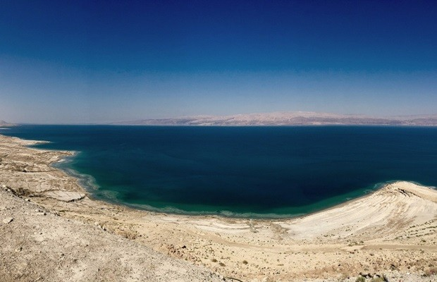 Exposição sobre Israel, a Terra Santa, mostra o Mar Morto (Foto: Divulgação/Tarcísio Pina)