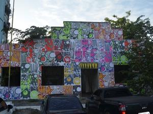 Movimento cultural prentende realizar em 2014 1º Festival de Arte urbana do estado. (Foto: Dyepeson Martins/G1)