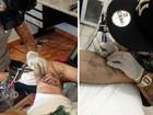 Fãs de Star Wars eternizam saga com tatuagens em estúdio de Sorocaba