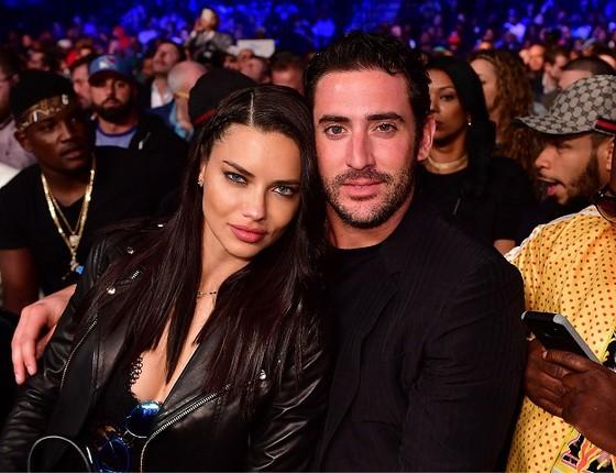 Adriana Lima e Matt Harvey: assumidíssimos desde o último fim de semana  (Foto: Getty Images)