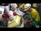 Ato pró-impeachment de Dilma no DF termina com queima de 'caixão do PT'