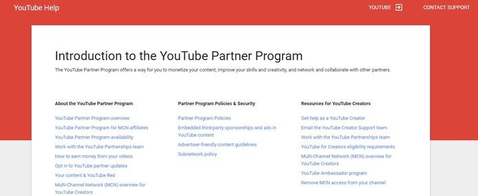 Youtube muda forma de monetização (Foto: Divulgação/Youtube)
