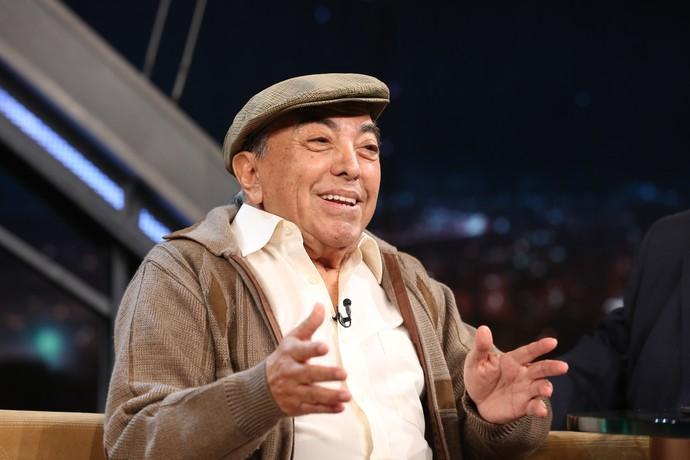 Mauricio de Sousa durante entrevista no 'Programa do Jô' (Foto: Carol Caminha/Gshow)