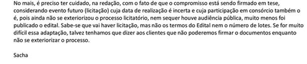 vale este_ E-mail de Sacha Reck a Danielle sobre edital de Campo Grande (Foto: Reprodução)