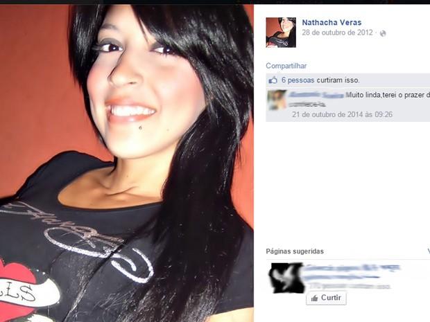 Nathacha Marques Veras é suspeita de distribuir drogas (Foto: Reprodução/Facebook)