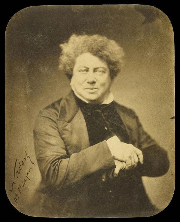 O romancista francês Alexander Dumas, autor de 'O conde de Monte Cristo', em retrato feito por Félix Nadar em 1855 (Foto: Cortesia/Getty's Open Content Program)