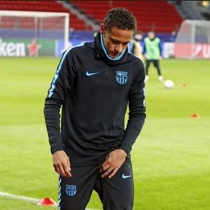 Neymar lesão Barcelona (Foto: Reprodução / Site Oficial)