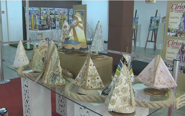 Exposição conta a história do Círio no Amapá. (Foto: Reprodução/TV Amapá)