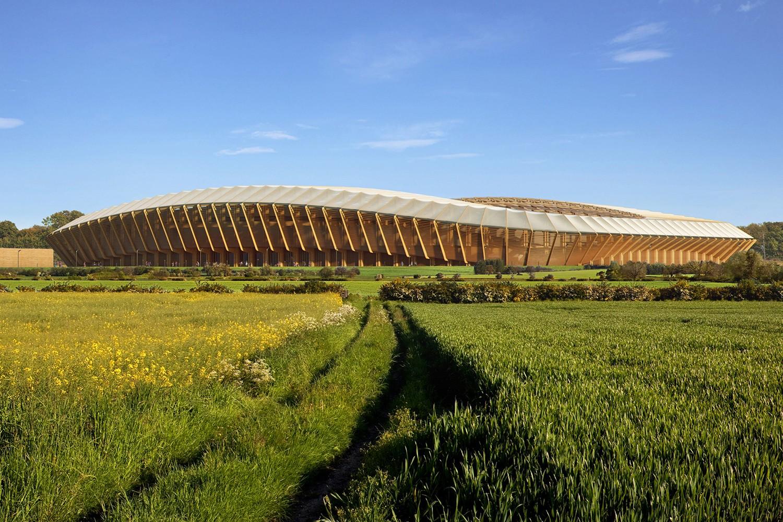 O estádio verde criado pelo escritório de Zaha Hadid (Foto: Divulgação)