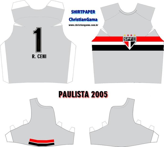 (NÃO USAR) Camisa Rogério Ceni Paulista 2005 (Foto: GloboEsporte.com)
