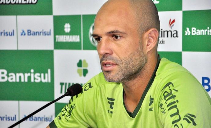 Zagueiro Anderson Marques anuncia saída do Juventude para cuidar do filho em São Paulo (Foto: Arthur Dallegrave / Esporte Clube Juventude)