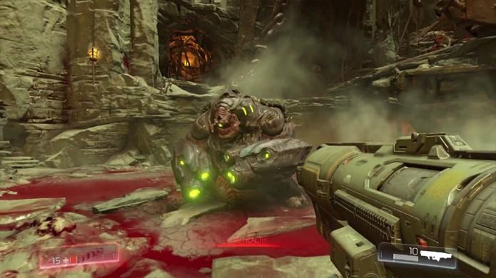 O Rocket Launcher volta no novo Doom e pode ser modificado para se tornar mais estratégico (Foto: Reprodução/YouTube)