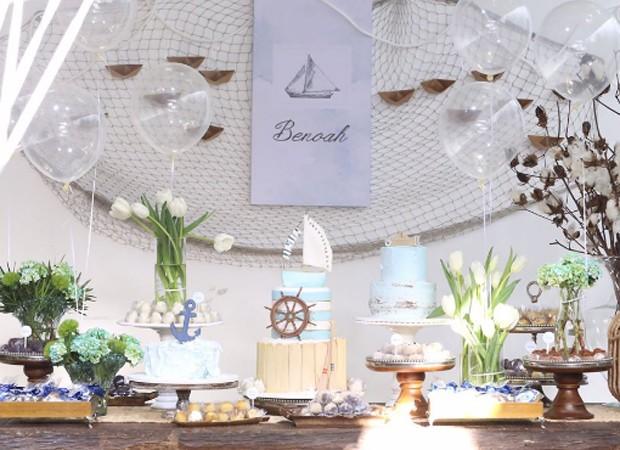 Detalhes da decoração da festade Benoah (Foto: Reprodução/Instagram)