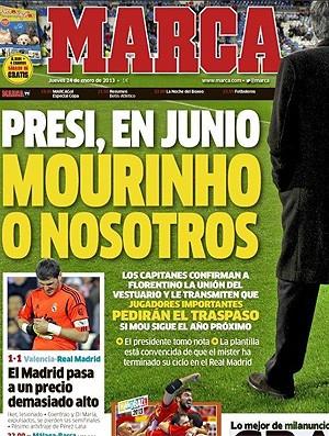 capa Marca Mourinho Real Madrid (Foto: Reprodução / Marca.com)