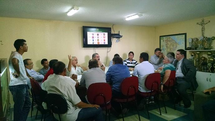 Reunião Conselho Arbitral Série B Campeonato Cearense (Foto: Juscelino Filho)