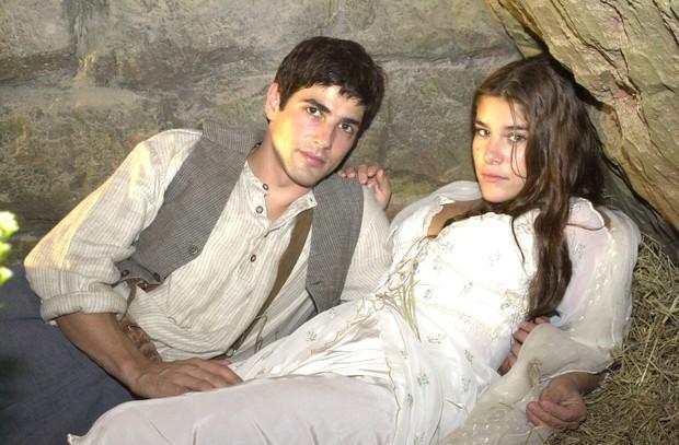 Reynaldo Gianecchini e Priscila Fantin na novela Esperança (Foto: TV Globo / João Miguel Júnior)