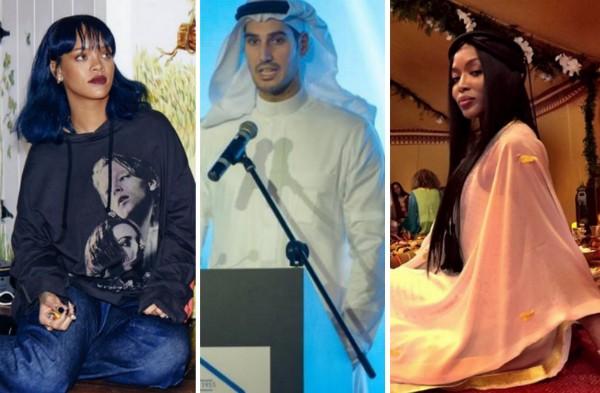 Rihanna, Hassan Jameel e Naomi Campbell (Foto: Instagram/Divulgação)
