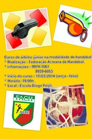 Curso arbitragem handebol acre (Foto: Divulgação/Fach)