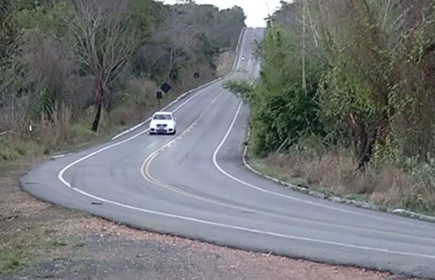 Trecho foi vistoriado e a rodovia está bem sinalizada (Foto: Reprodução/TV Anhanguera)