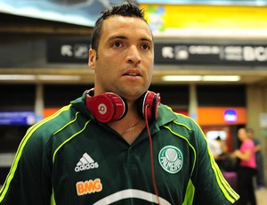 Daniel Carvalho desembarque Palmeiras (Foto: Djalma Vassão / Gazeta Press)