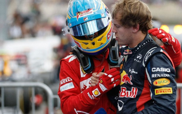 fernando alonso ferrari vettel rbr gp da Alemanha (Foto: Ag&#234;ncia Reuters)