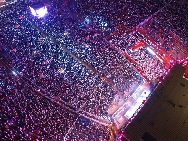 Festa de Barretos tem a arena de rodeios mais famosa da América Latina (Foto: GF Drone)