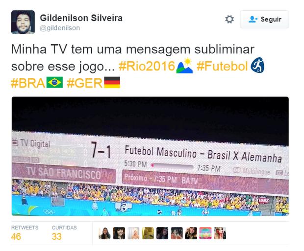 Memes da final olímpica no futebol (Foto: Reprodução/Twitter)
