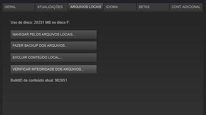 Verifique a integridade dos arquivos de GTA V no Steam para corrigir erros (Foto: Reprodução/Tais Carvalho)