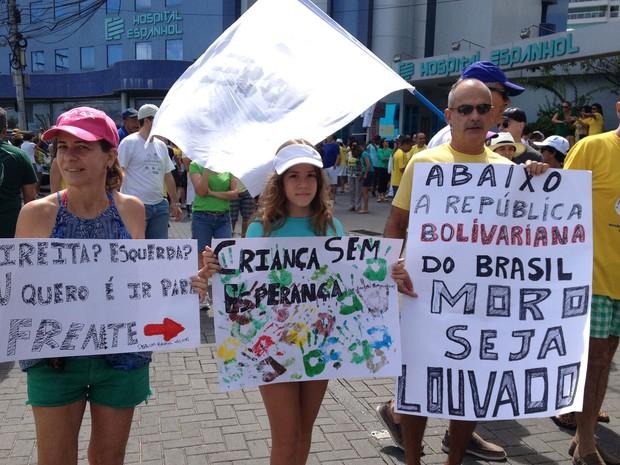 Protesto contra o governo federal em Salvador (Foto: Cassia Bandeira/G1)