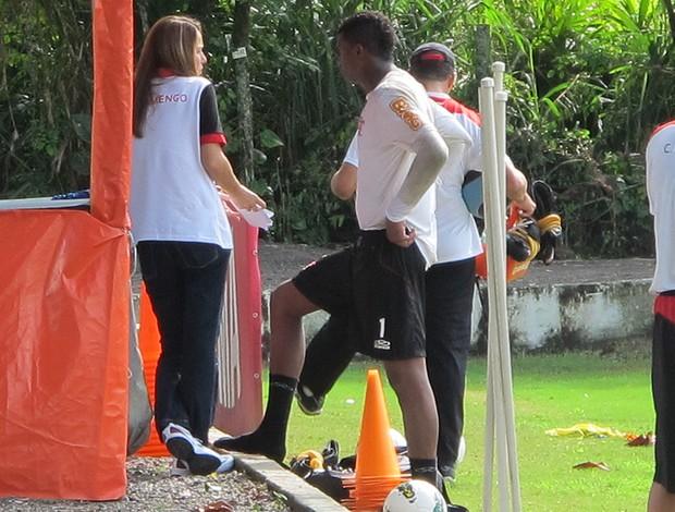 Patricia Amorim Felipe treino Flamengo (Foto: Janir Junior / Globoesporte.com)